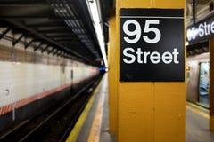 De Post van de Metro van de Stad van New York Stock Foto