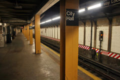 De Post van de Metro van het Stadhuis van New York Royalty-vrije Stock Fotografie