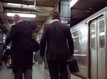 De Post van de Metro van Wall Street Stock Afbeelding