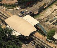 De Post van de monorail Stock Foto