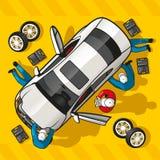 De Post van de reparatieauto Royalty-vrije Stock Afbeeldingen
