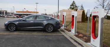 De post van de Teslacompressor, Ann Arbor, MI Royalty-vrije Stock Afbeeldingen