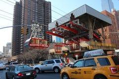 De post van de tram Stock Afbeelding