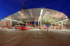 De post van de tram, Bern, Zwitserland Royalty-vrije Stock Fotografie