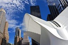 De post van de World Trade Centerweg, de Stad van New York Stock Foto
