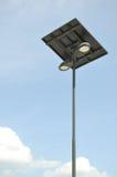 De post van de zonnecelelektriciteit Royalty-vrije Stock Foto