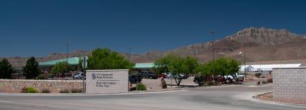 De Post van de grenspatrouille, El Paso Texas Entrance en overzicht stock fotografie