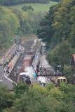 De Post van Grosmont, Noord-York legt Spoorweg vast Stock Afbeelding