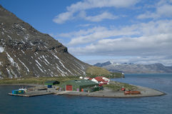 De Post van Grytviken - Zuid-Georgië Stock Fotografie