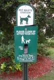 De post van het huisdierenafval Royalty-vrije Stock Afbeelding