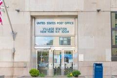 De post van het het postkantoordorp van Verenigde Staten in de stad van New York stock afbeelding