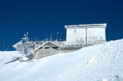 De post van het skilifteind Stock Foto's
