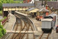 De post van het Spoor van de Erfenis van Llangollen, Wales Stock Foto's