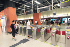 De post van Hong Kong MTR in Po Lam Stock Afbeeldingen