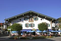 De Post van hotelalte in Oberammergau, Beieren Royalty-vrije Stock Afbeeldingen