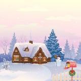De post van Kerstmis stock illustratie