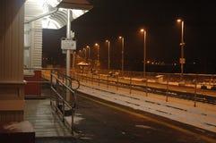 De post van passagierstreinen stock foto's