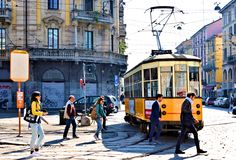 De post van portagenua van Milaan Italië Royalty-vrije Stock Foto