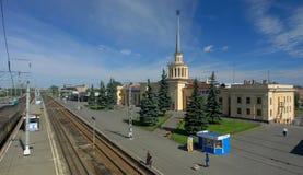 De post van Raylway in Petrozavodsk Royalty-vrije Stock Afbeelding