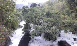 De post van de rivierheuvel Stock Fotografie