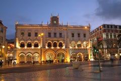 De Post van Rossio, Lissabon, Portugal Royalty-vrije Stock Fotografie