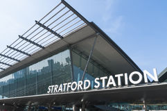 De Post van Stratford in Londen Stock Foto