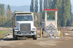 De Post van de Vrachtwagen voor industrieel gebruikschaal royalty-vrije stock fotografie