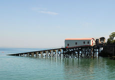 De Posten van de reddingsboot stock foto