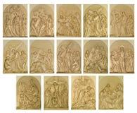 De posten van het kruis Stock Afbeeldingen