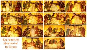 De posten van het Kruis Stock Afbeelding