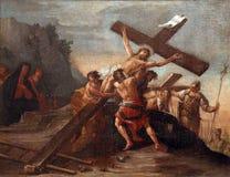 12de Posten van het Kruis Stock Foto