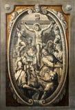 12de Posten van het Kruis, de matrijzen van Jesus op het kruis Royalty-vrije Stock Afbeelding