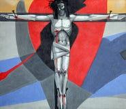 12de Posten van het Kruis, de matrijzen van Jesus op het kruis Stock Foto