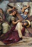 de 7de Posten van het Kruis, Jesus valt de tweede keer royalty-vrije stock foto's