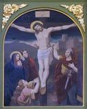 12de Posten van het Kruis, de matrijzen van Jesus op het kruis Royalty-vrije Stock Afbeeldingen