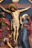 12de Posten van het Kruis, de matrijzen van Jesus op het kruis stock afbeeldingen