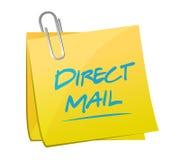 de postillustratie van het direct mailmemorandum stock illustratie