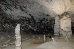 De Postojna grottorna arkivbild