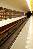 De postplatform van de metro Stock Foto