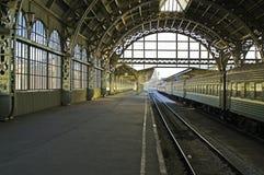 De postplatform van de spoorweg Royalty-vrije Stock Foto