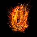 De postteken van de brand Stock Foto's