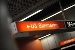 De postteken van de metro, Wenen, Oostenrijk Royalty-vrije Stock Fotografie