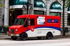 De Postvrachtwagen van Canada - Beeld stock foto