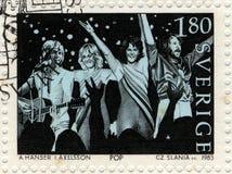 De postzegel van Abba Stock Afbeeldingen