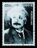 De Postzegel van Albert Einstein Stock Foto