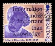 De Postzegel van Albert Einstein Stock Afbeelding