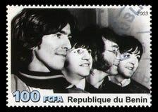 De Postzegel van Beatles van Benin Stock Fotografie