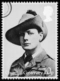 De Postzegel van Churchill van Winston Royalty-vrije Stock Foto