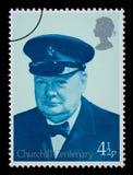 De Postzegel van Churchill van Winston Stock Foto's