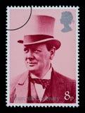 De Postzegel van Churchill van Winston Stock Afbeelding